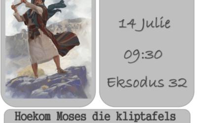 Eks 32:19 Hoekom Moses die kliptafels stukkend gegooi het