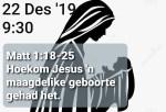 Matt 1:18-25 Jesus se maagdelike geboorte
