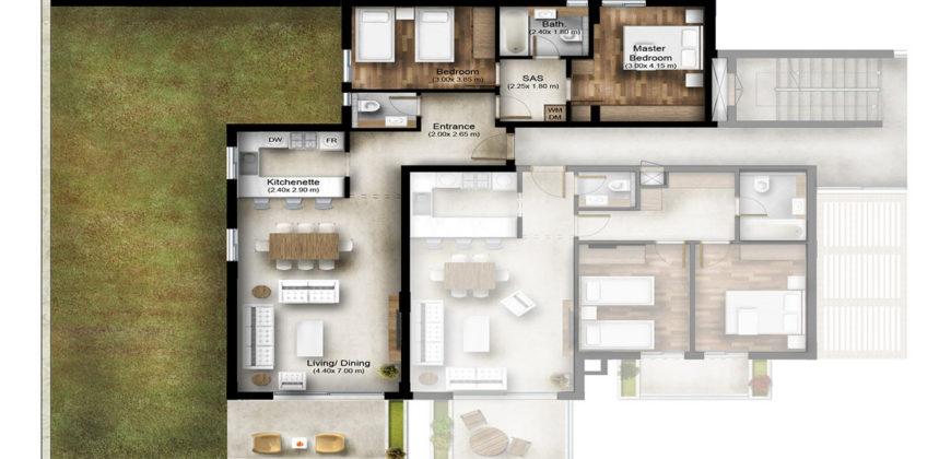 Apartment for Sale Bmahrain Jbeil Type 1 B2 GF floor Area 120Sqm and Garden 88Sqm