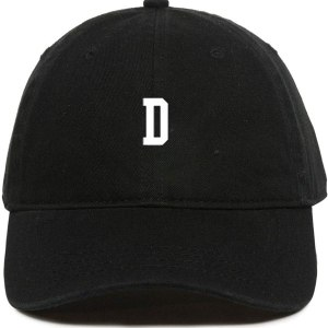 D Initial Letter Dad Hat Baseball Cap Embroidered Cotton Adjustable