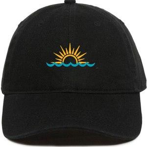 Sunset Dad Hat Baseball Cap Embroidered Cotton Adjustable