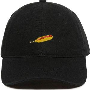 Corndog Stick Emoji Dad Hat Baseball Cap Embroidered Cotton Adjustable