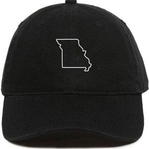 Missouri Map Outline Dad Hat Baseball Cap Embroidered Cotton Adjustable