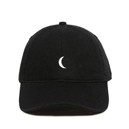 Moon Baseball Cap Embroidered Dad Hat Cotton Adjustable