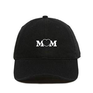 Mom Heart Baseball Cap Embroidered Dad Hat Cotton Adjustable Black