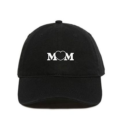 Mom Heart Baseball Cap Embroidered Dad Hat Cotton Adjustable