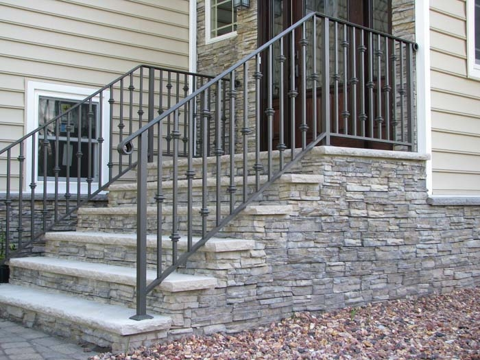 Aluminum Railing Carl S Fencing Decking Window Replacement And | Aluminum Railings For Steps | Porch | Wood Wall Mounted Stair | Solid Wood | Custom Treated | Modern