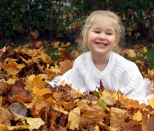 Leaf pile happiness