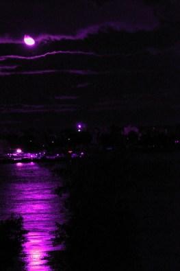 Purple moonscape