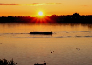 sunrise over dock