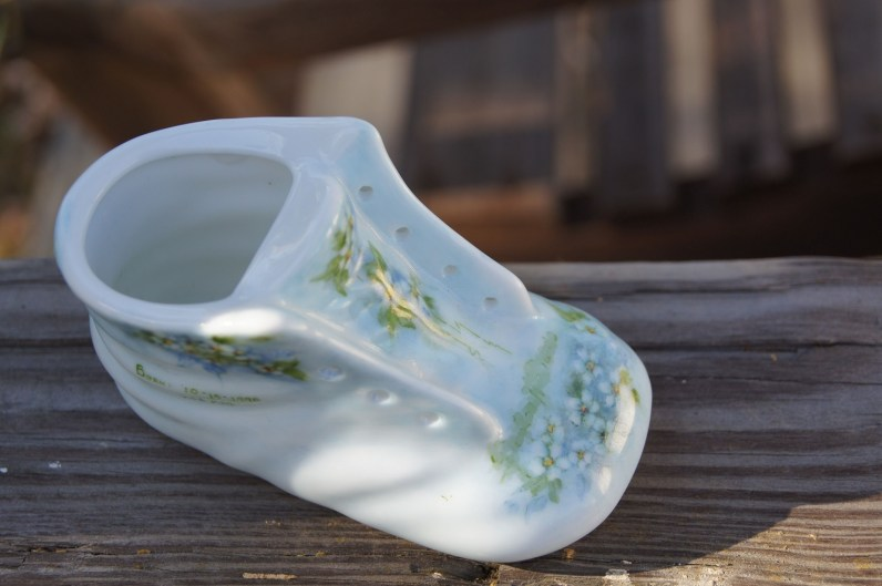 Glass baby bootie