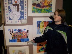 Paxton's 1st art show