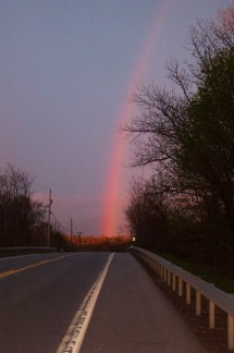 Rainbow in Road