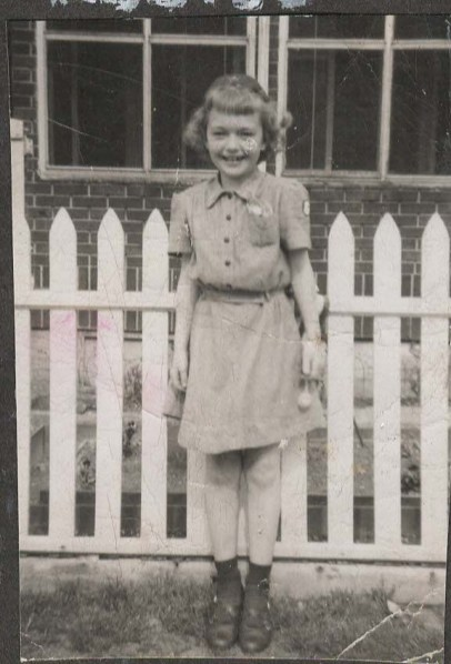 My mother as a Brownie