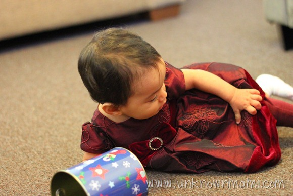 Baby in Christmas Dress