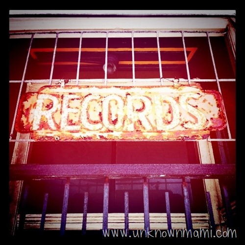 Old record store sign