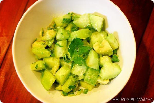 Avocado-and-cucumber-salad