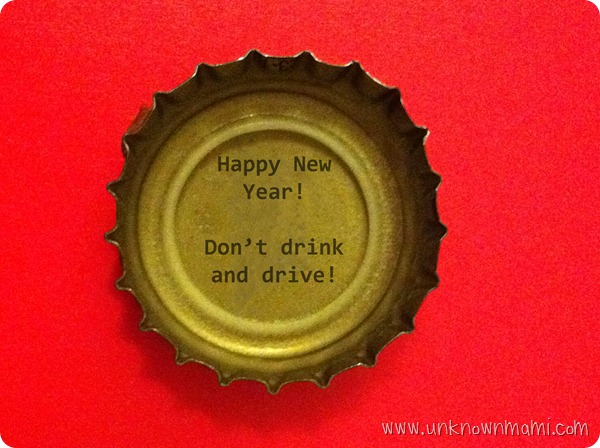 Don't drink and drive on New Year's