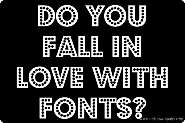 Font with dots