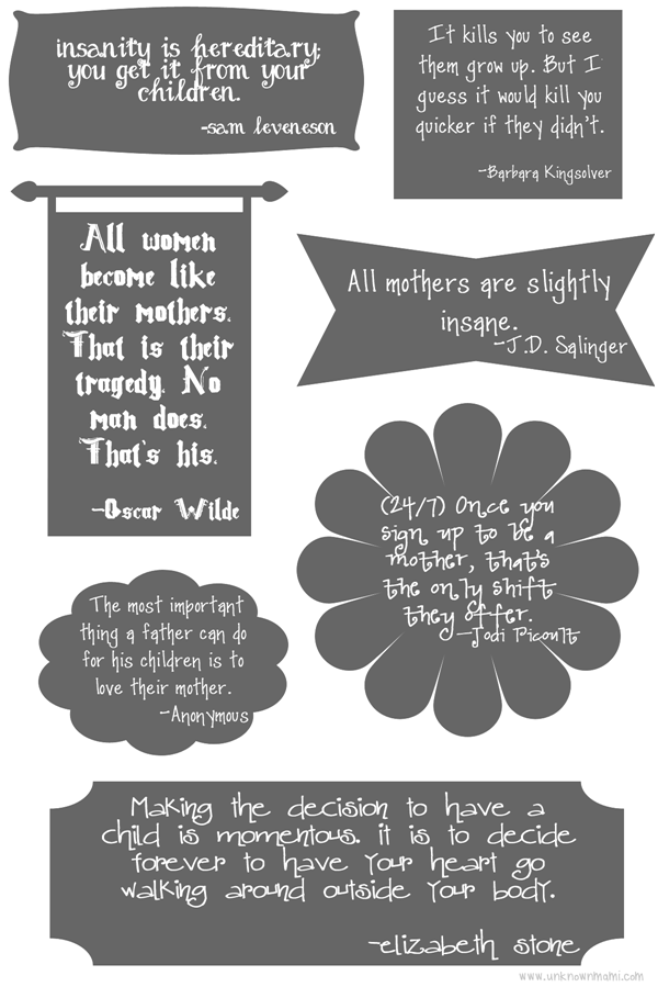 Quotes about mothers printable