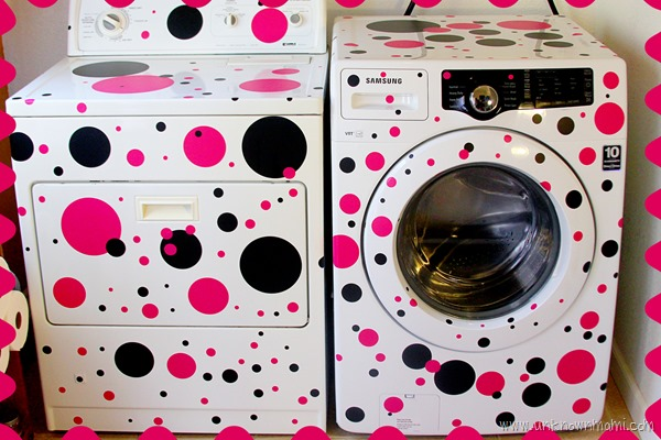 How to put polka dots on washer and dryer