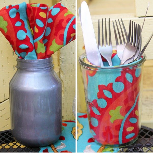 Repurposed glass containers