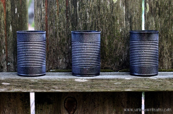 Easy way to make tin can lanterns
