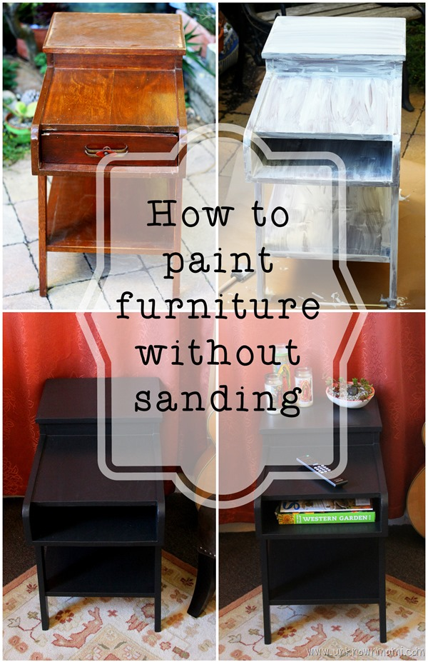 Street Find Redo Paint Without Sanding, Can You Paint Wood Furniture Without Sanding