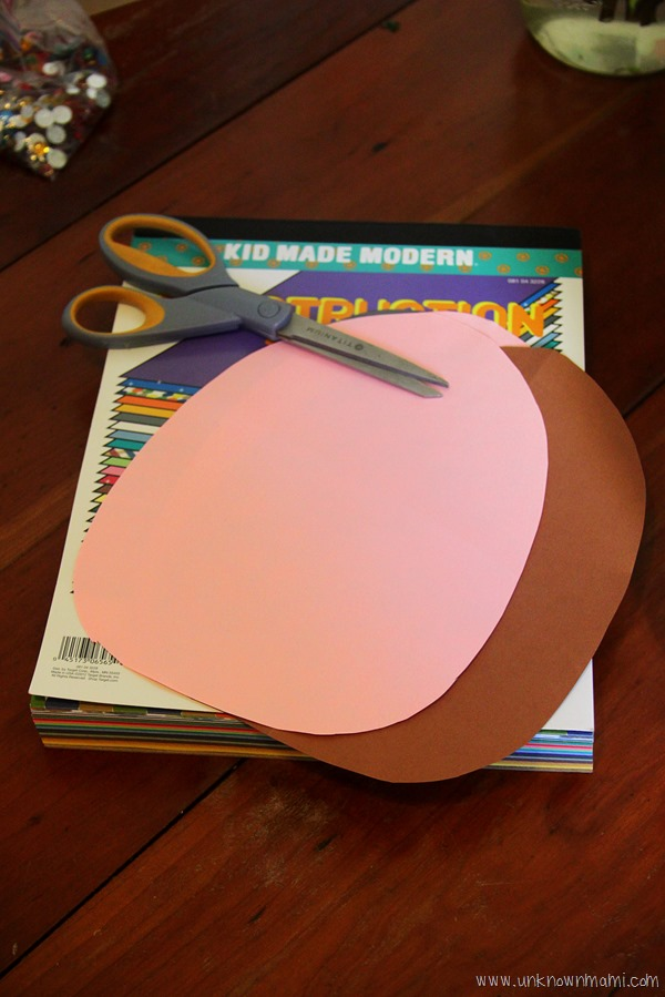 Easter eggs cut out of construction paper