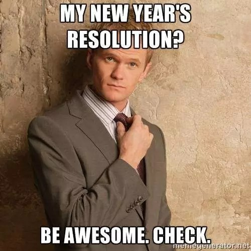 Funny New Year's Resolution Meme