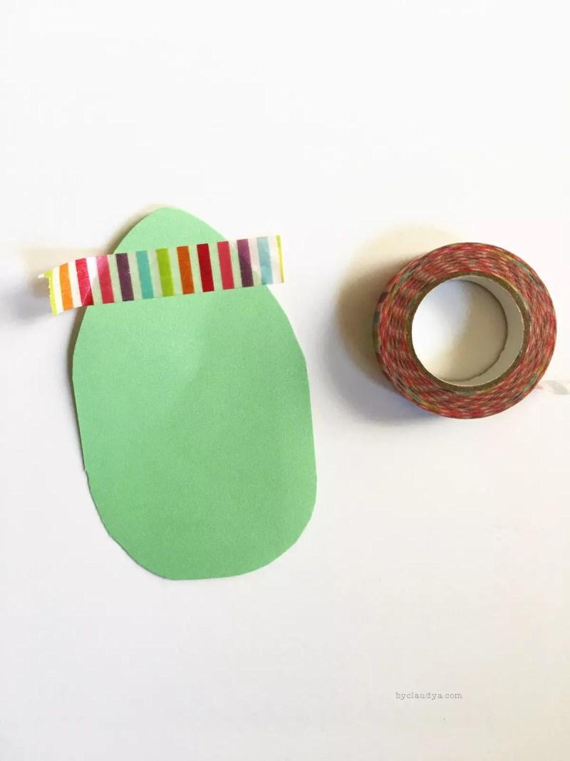 Washi tape Easter craft
