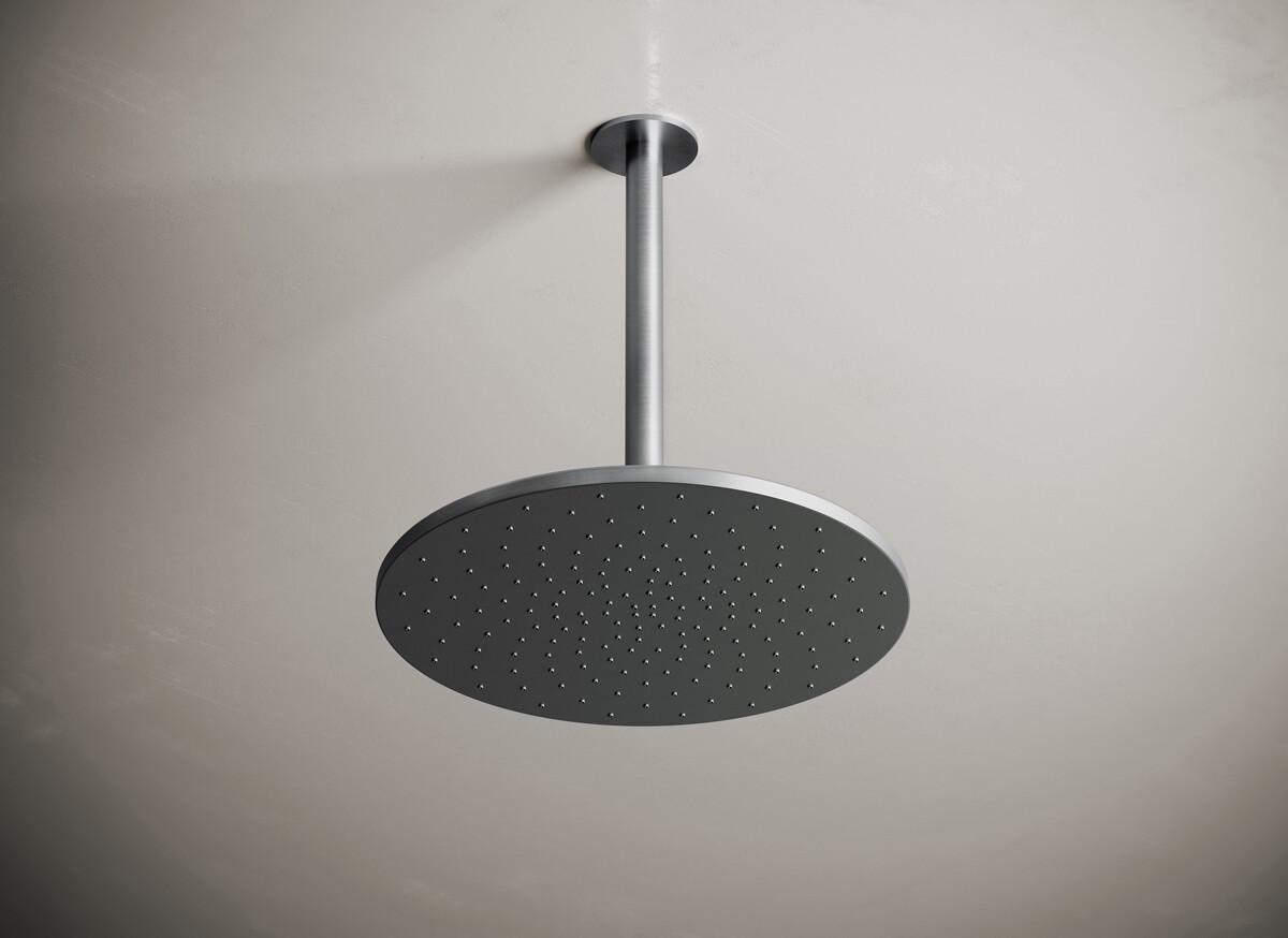 Jp 31 Ceiling Mounted Rain Shower 300mm Dark Grey