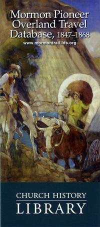 Mormon Pioneer Overland Travel Database, 1847–1868
