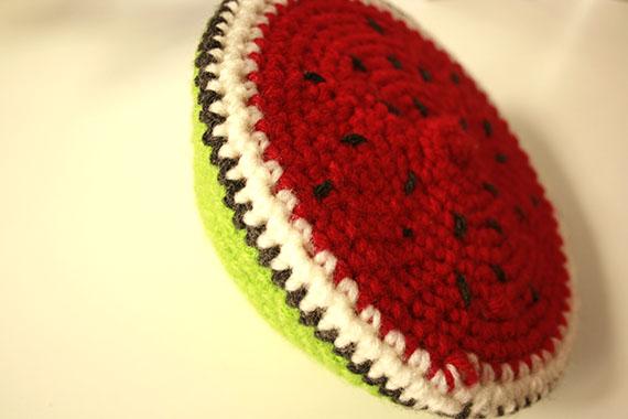 Sandía realizada en crochet | By Cousiñas