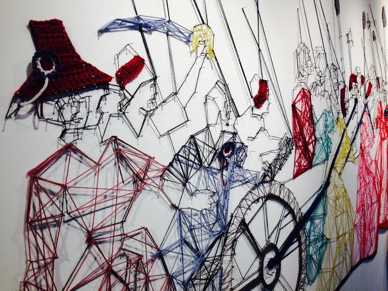 String Art: Tricotouses. Día Internacional de Tejer en Público