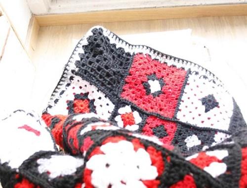 Manta realizada en crochet   By Cousiñas
