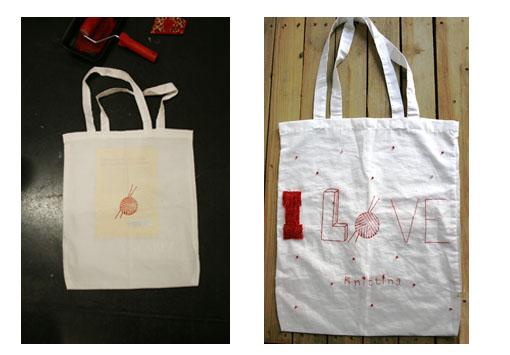 Proceso estampación y bordado en bolsa   By Cousiñas
