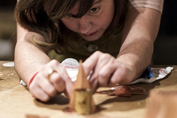Ruth Uve en la casa taller de Álvaro Catalán de Ocón | By Cousiñas