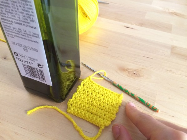 Base cubre botellas crochet