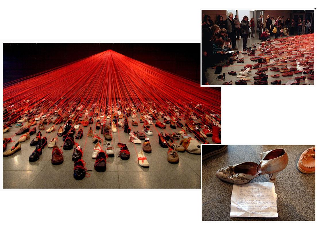 Chiharu Shiota Dialogo del ADN