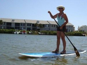 Paddle Boarding  on Intercoastal Waters of New Smyrna