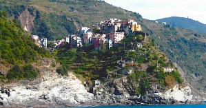 View of Corniglia from Ferry.