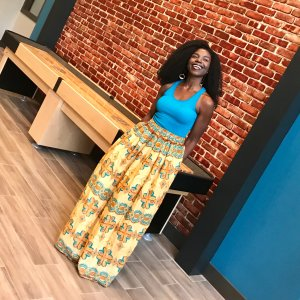 Tribal Marks by 'Dami African Ankara wax print maxi skirt