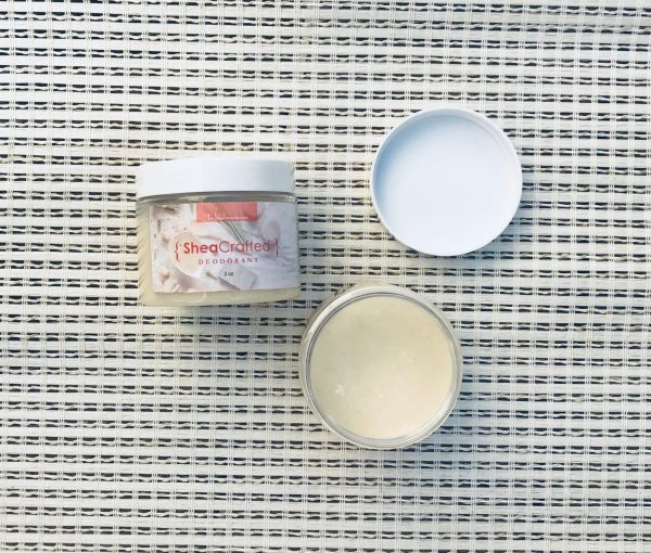 Tribal Marks by 'Dami Sheacrafted natural deodorant that works! A blend of just five toxin free food based ingredients you would find in your kitchen. Raw African Shea butter based with arrowroot powder, baking soda and proprietary blend of essential oils.