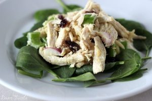 Delicious Cranberry Almond Chicken Salad that's Paleo and Whole30 friendly | bydawnnicole.com