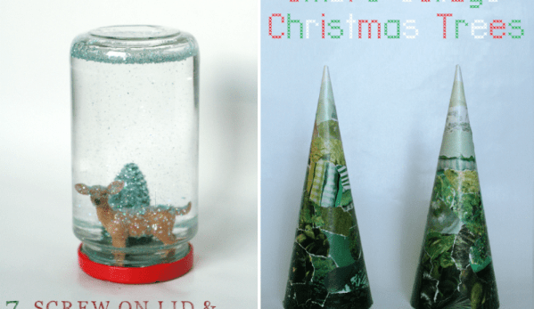 snowglobe and ombre trees