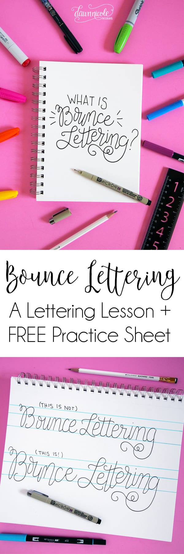 How to Do Bounce Lettering | Dawn Nicole Designs®