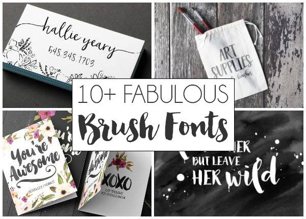 10 Fab Brush Calligraphy Fonts | DawnNicoleDesigns.com