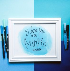 """Simple DIY """"I Love You To The Moon And Back"""" Print"""
