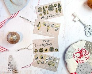 Black + Gold Free Printable Christmas Tags